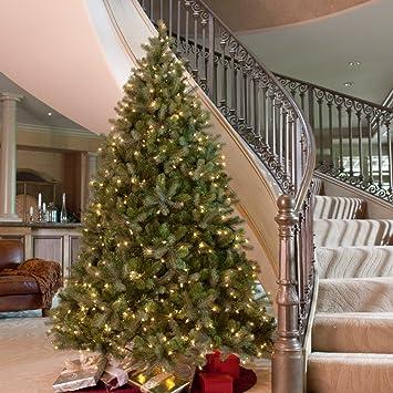 Amazon.com: Downswept Douglas Fir Medium Pre-lit Christmas Tree ...