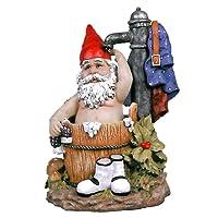 Garden Gnome Statue - Tubby the Bathing Garden Gnome - Lawn Gnome