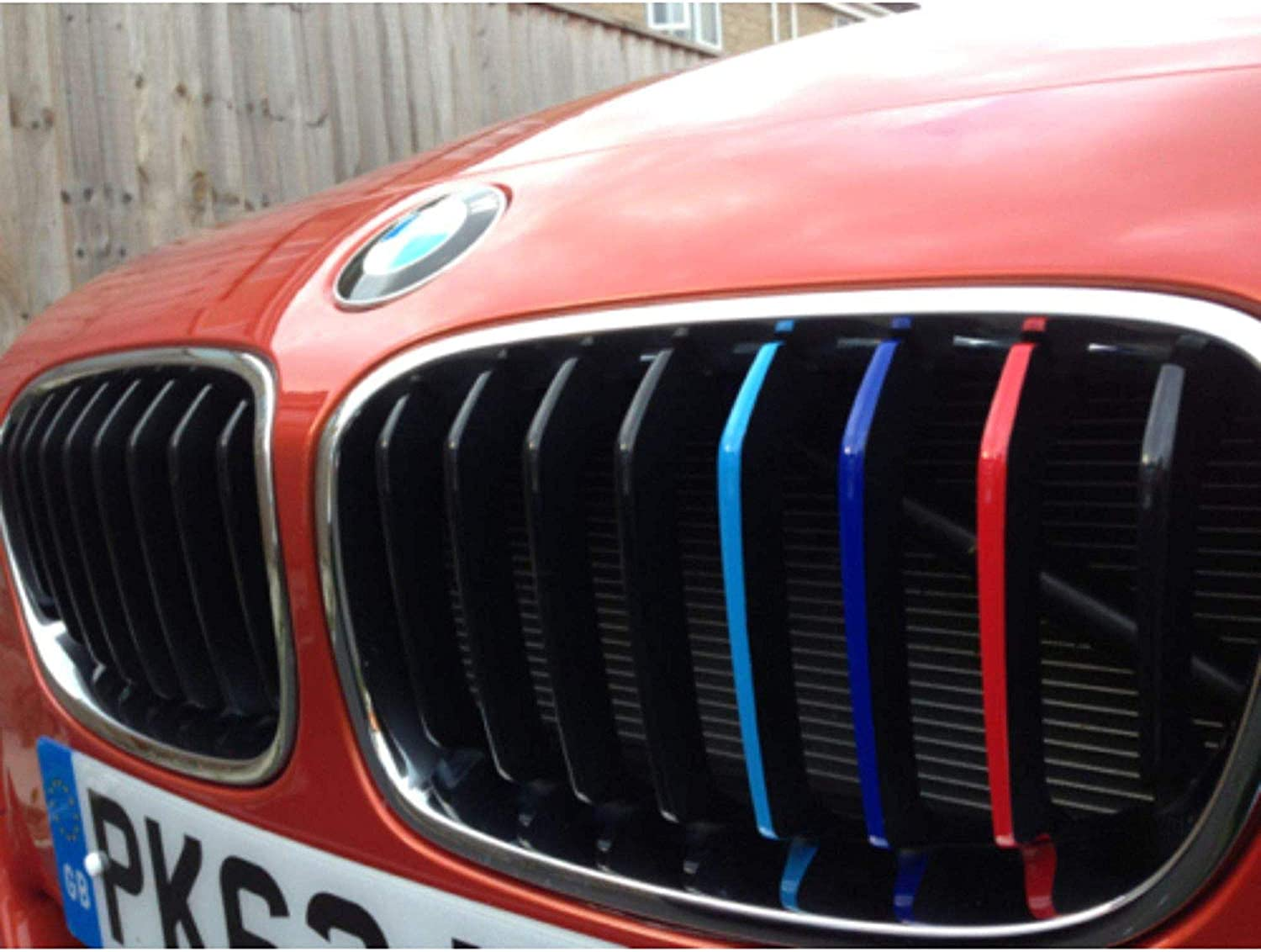 Autodomy Pegatinas Compatible con BMW Pack 27 Rayas para la Parrilla Delantera del Coche