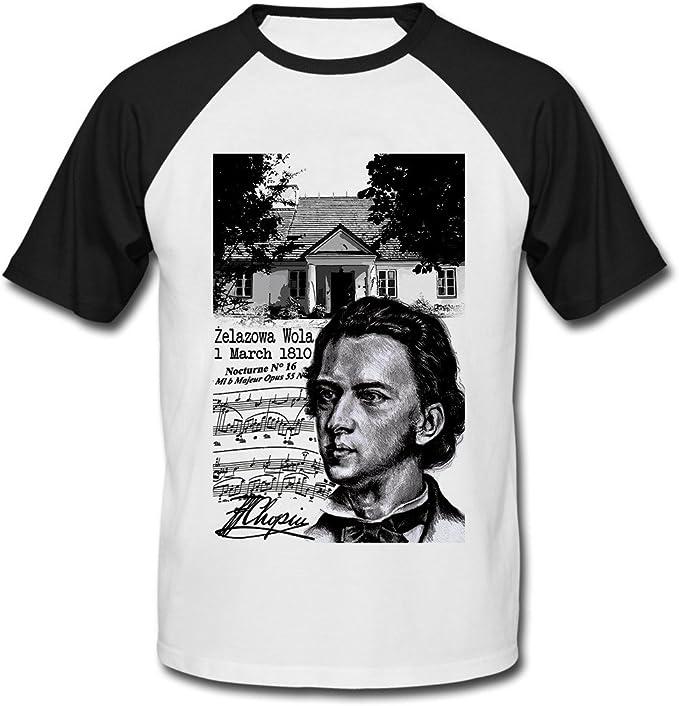 teesquare1st Frederic Chopin Polish Composer Camiseta DE Mangas Negra Cortas: Amazon.es: Ropa y accesorios
