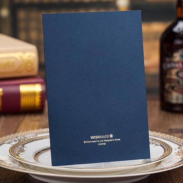 Einladungskarten Hochzeit Wishmade Blau Spitze Lasercut Design Blanko Set  50 Stücke Gratis Umschläge: Amazon.de: Küche U0026 Haushalt