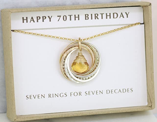 Amazon 70th Birthday Gift November Birthstone Necklace For
