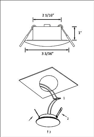 Amazon Com Facon 3 Inch Led Rv Puck Light Full Aluminum Recessed