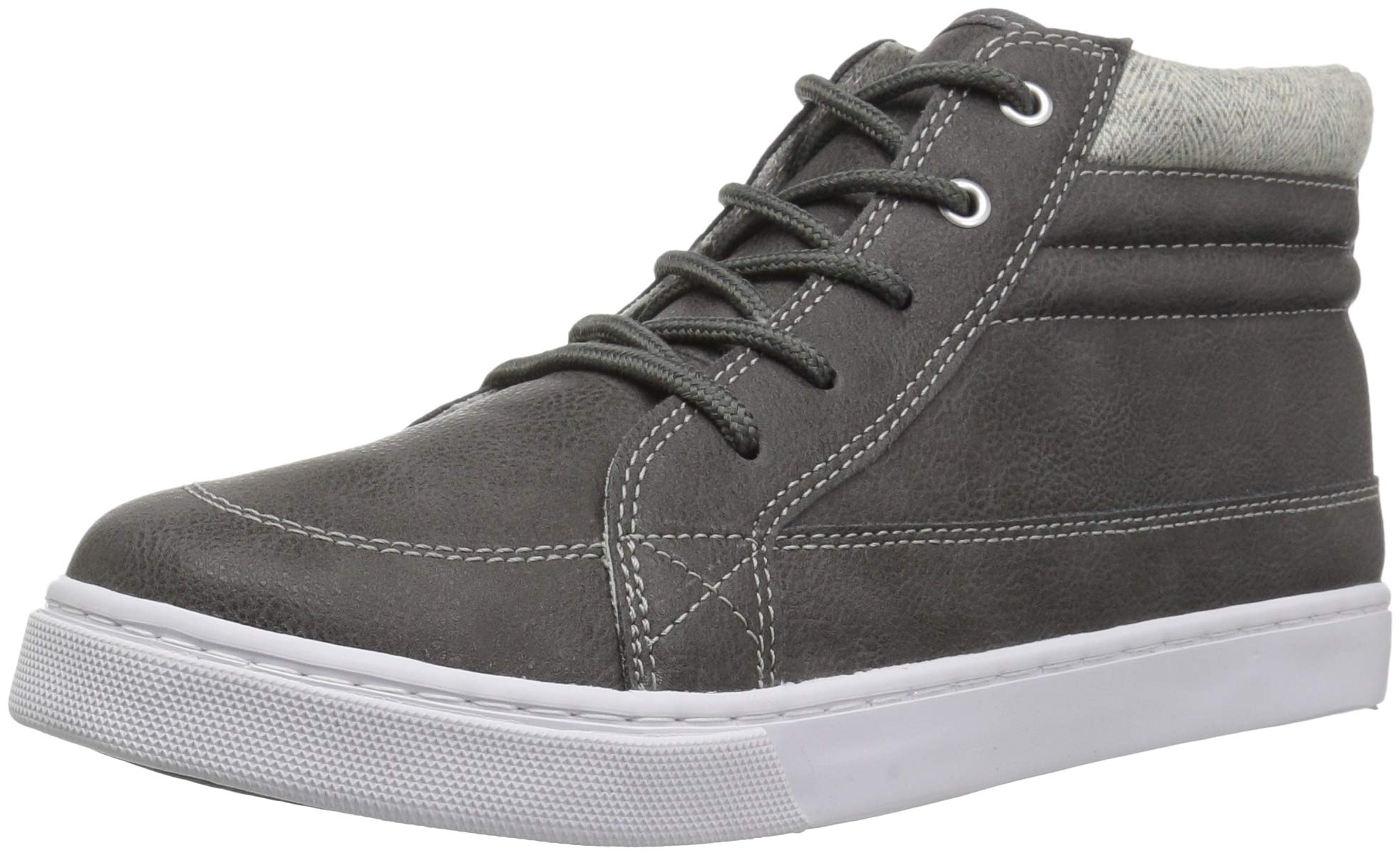 The Children's Place Boys' High Top Sneaker, Nordic Gray, Youth 3 Child US Little Kid
