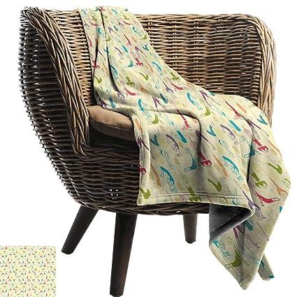 Amazon.com: WinfreyDecor Yoga Home Throw Blanket Workout ...
