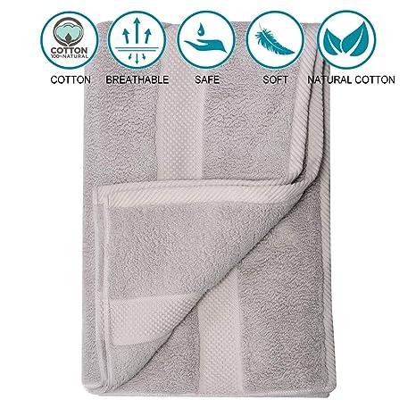 TenMotion Toallas de baño, Extra Grande Toallas de Ducha 80 x 160 cm, Toallas de algodón 100%, Hoja de baño de Lujo hogar, baños, Piscina, Nadando, ...