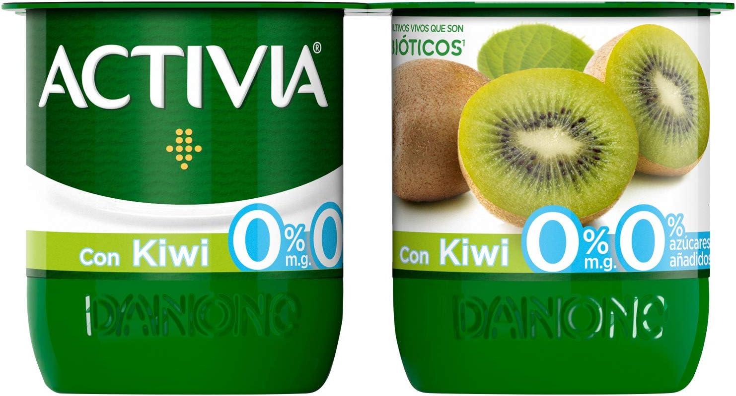 Danone Activia - Yogur 0% Con Kiwi, Pack 4 x 120 g