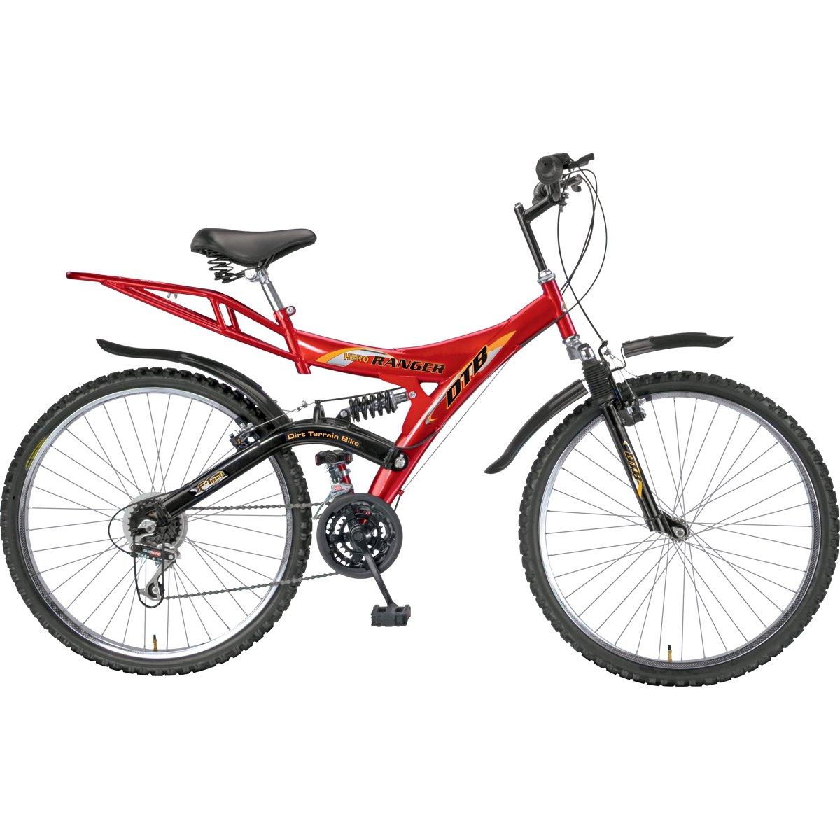 Buy Hero Ranger Dtb Vx 26t 18 Speed Mountain Bike Black Red Online Bak Mandi Bayi Rainbow At Low Prices In India