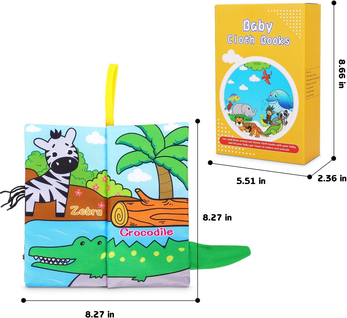 Libros Blandos para Beb/é Suave Libro de Tela Beb/é No T/óxicos Libro Activity Beb/é Anti-Tear Aprendizaje y Educativo Libro para Beb/é Reci/én Nacido Ni/ños