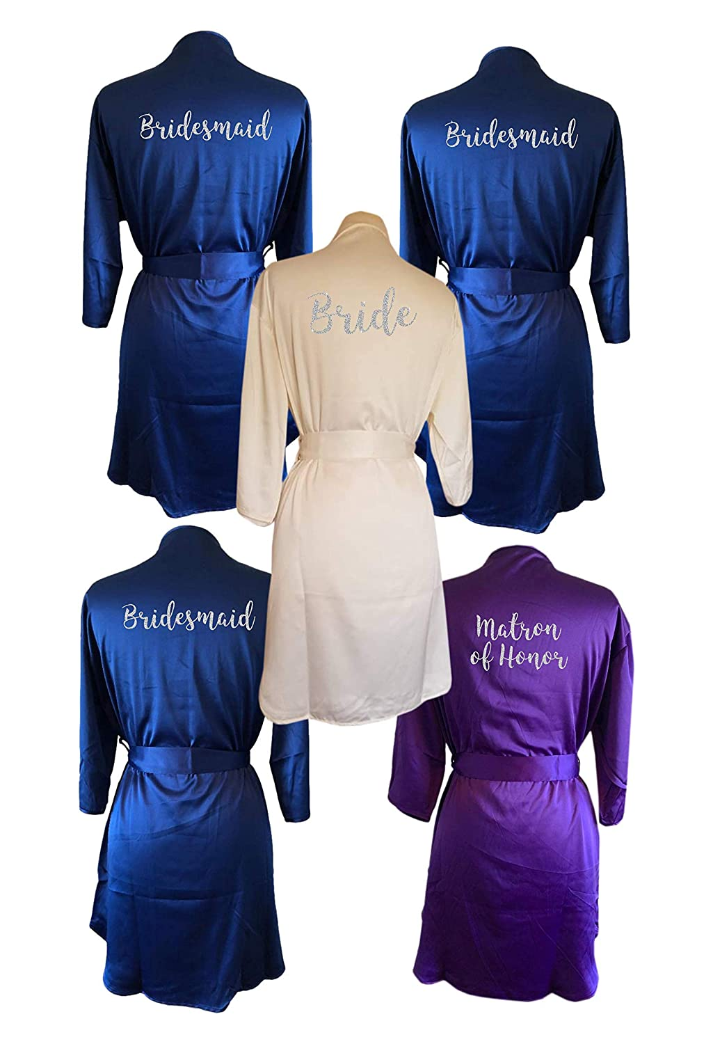 Custom Bridal Party Robes King font Personalized wedding robes