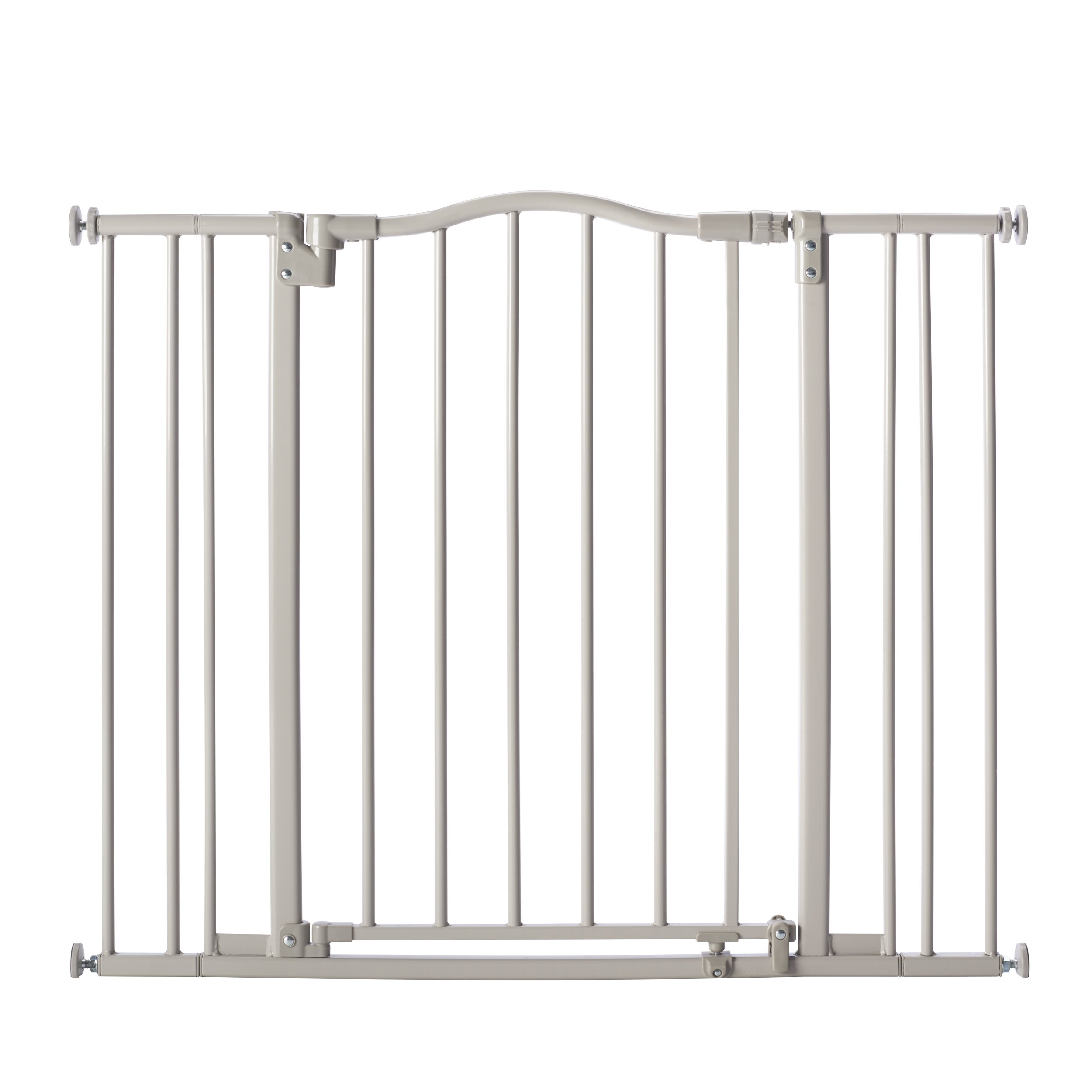 Supergate Arched Auto Close Gate, Grey, Fits Spaces between 28.75'' to 38.25'' wide and 30'' High
