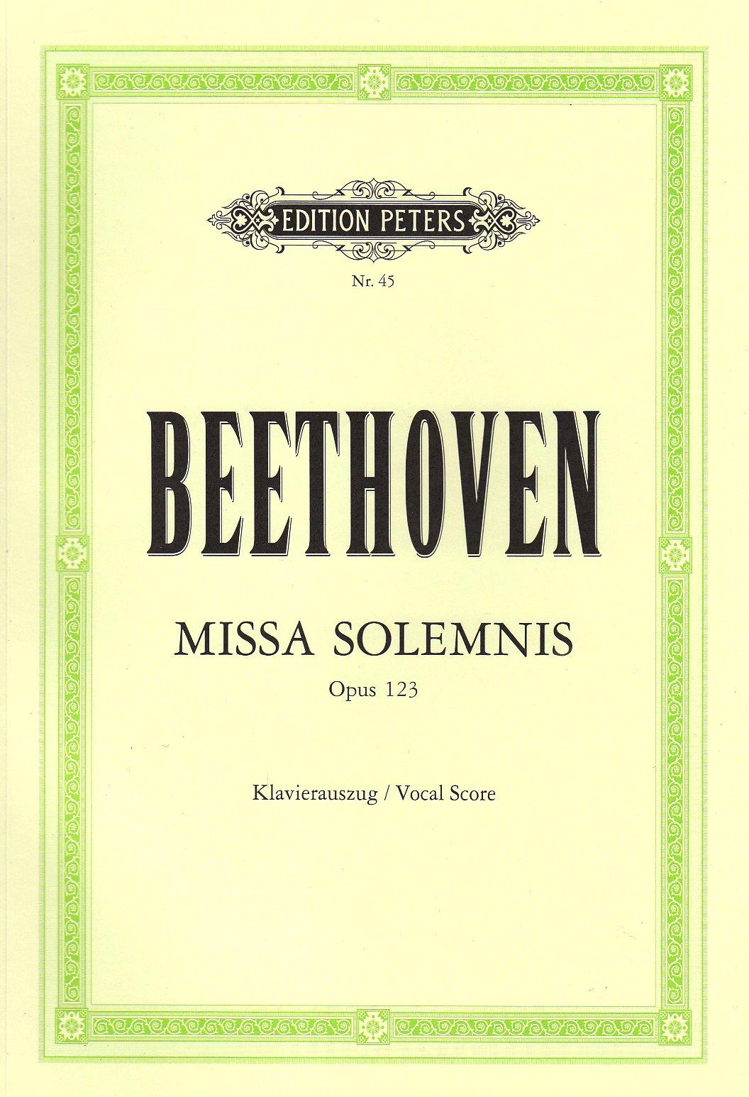Mass in d Missa Solemnis Op.123 (Latin) Broché – 1 janvier 2000 Ludwig Van Beethoven Peters B00006M2JZ Musikalien