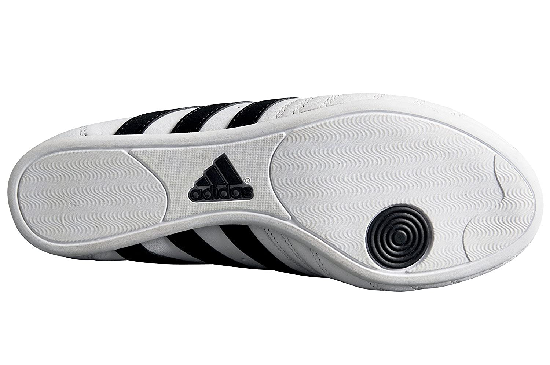 Adidas–Zapatillas Taekwondo clásicas, Unisex adulto, color blanco, tamaño 38