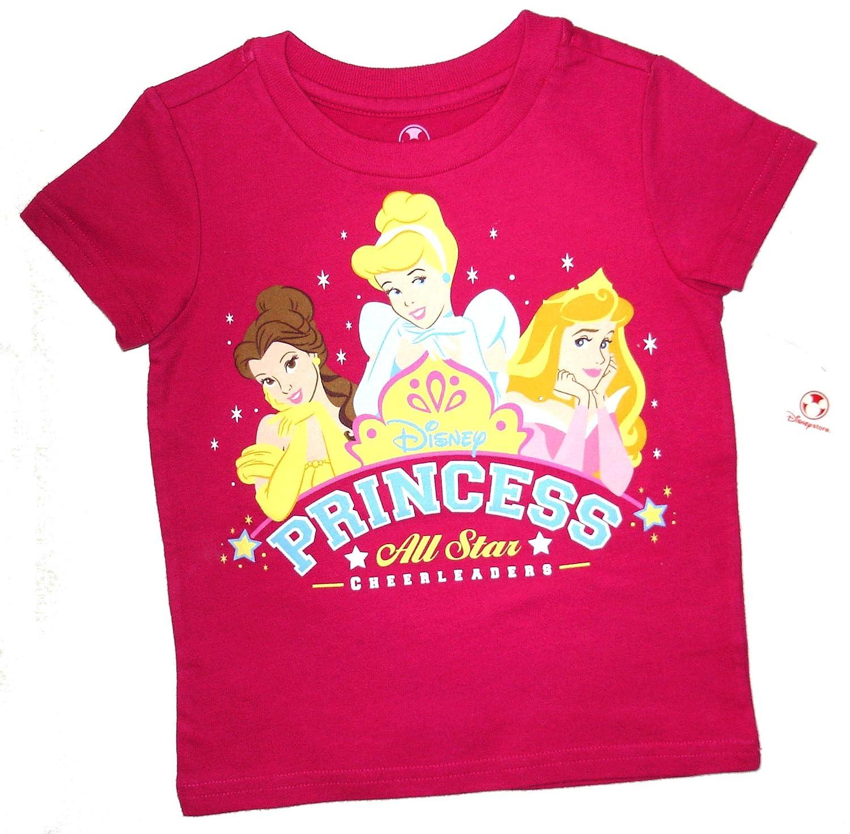 Princess Disney Store All Star Cheerleaders Tshirt~ 2-3 YRS Pink