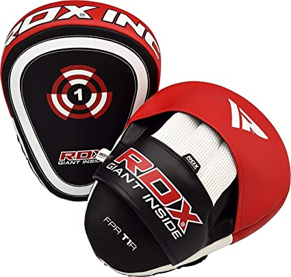 RDX Curved Focus Boxing Mitts Training Target Pads Kick Punching Hook /& Jab MMA