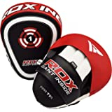 RDX Boxing Pads Focus Mitts, Maya Hide Leather Curved Hook and Jab Target Hand Pads, Great for MMA, Martial Arts…