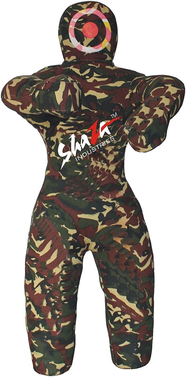 MMA柔術格闘技トレーニングGrapplingダミーWrestling Punching Bag – Unfilled canvas camouflage 48 inches (4 ft)