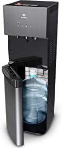 Avalon A3BLK Self Cleaning Bottom Loading Water Cooler Dispenser, 3 Temperature-UL/Energy Star Approved-Black Stainless Steel