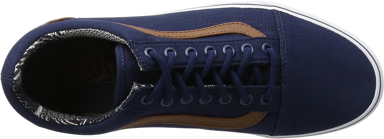 Vans Herren Ua Old Skool Sneaker, blau Blau C And L Dress Blues Material Mix