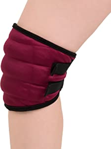 Bluestone Hot or Cold Wrap- Microwaveable or Freezable Knee Wrap-Moist Heat or Cooling Therapy with Natural Buckwheat Filling