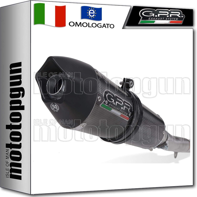 GPR D.90.GPAN.PO Tubo de escape homologado para GPE Anniversary Poppy compatible con Ducati Multistrada 1200 2010 10 2011 11 2012 12 2013 13 2014 14