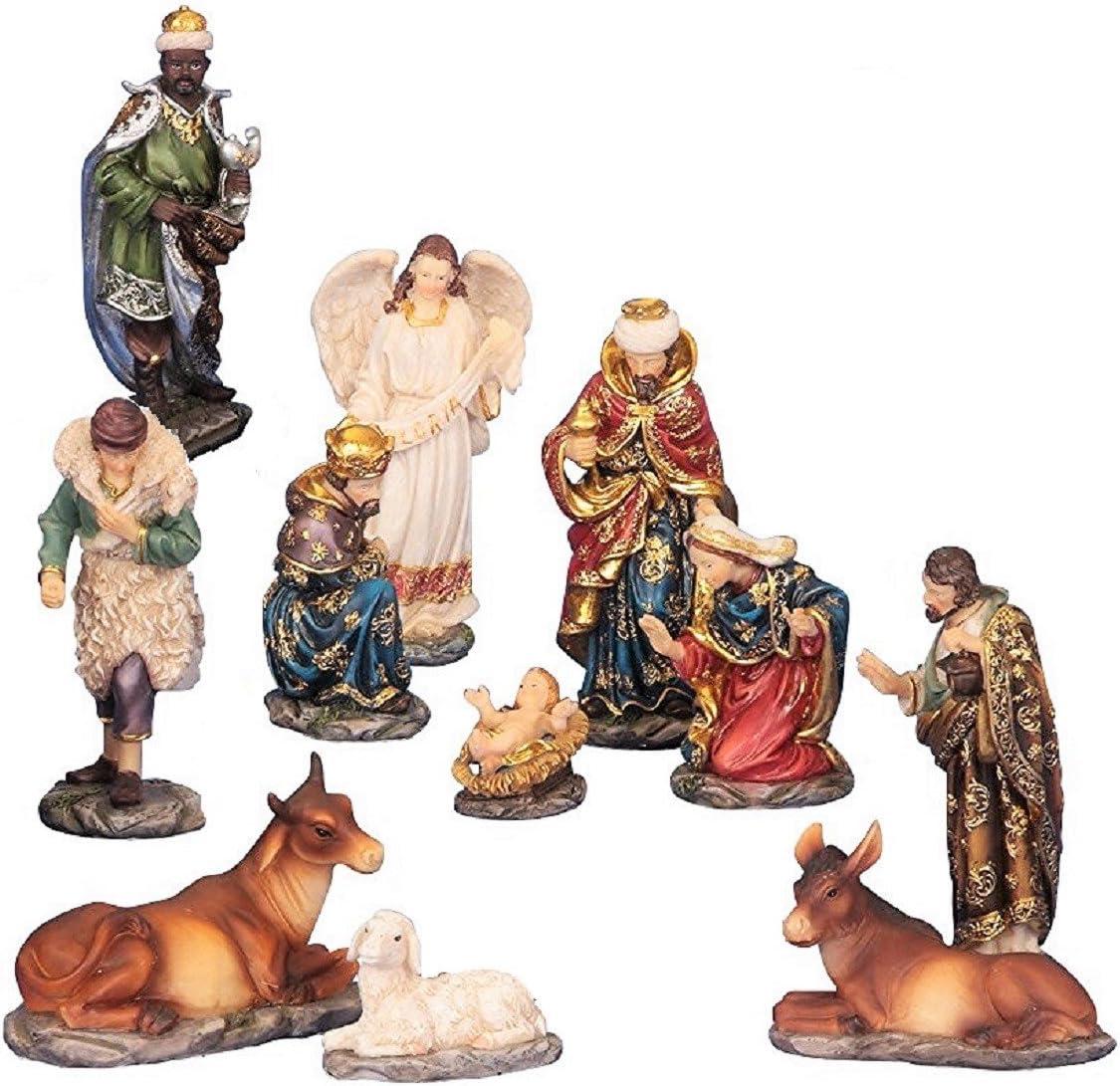 11 Piece Nativity Figurine Set 14 5 Cm Amazon Co Uk Kitchen Home