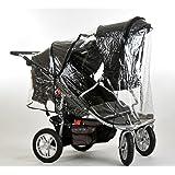 T3 Triple Stroller, Black/Bronze Trim