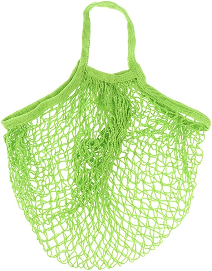 Bolsa de la compra, bolsa de red, saco para patatas, de algodón orgánico, varios colores, tejido, verde, talla única: Amazon.es: Hogar