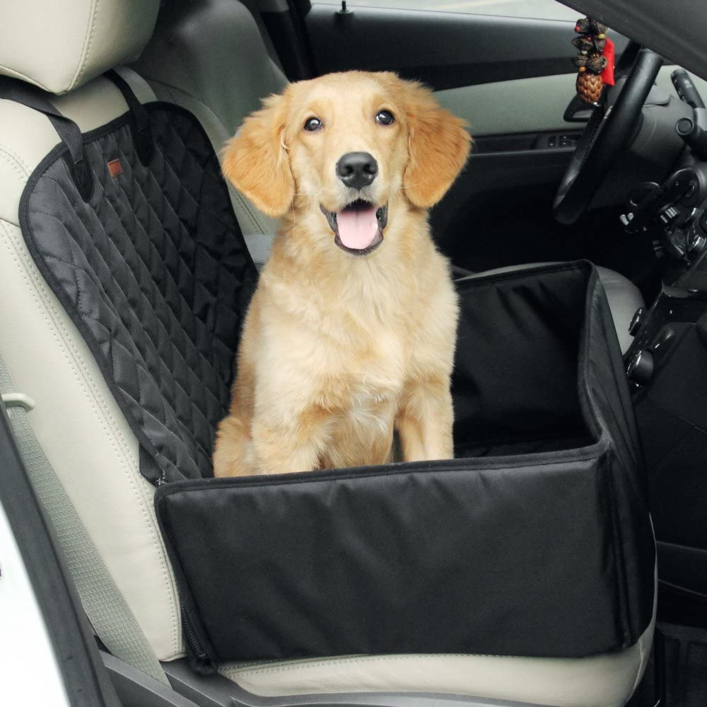 amorus 2-in-1 Waterproof Dog Pet Car Seat Covers Washable Automotive Cat Carrier for Travel