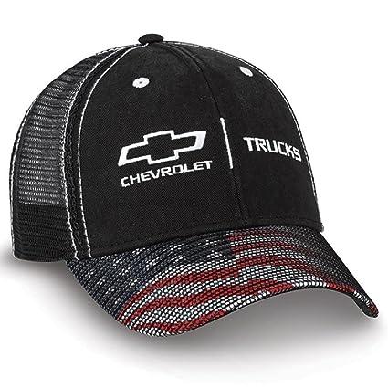 11c4c782b Chevy Trucks American Flag Black Twill & Mesh Hat