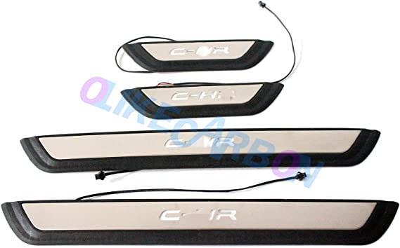 OLIKE for Toyota C-HR CHR 2016 2017 2018 2019 Fashion Style Door Sill Scuff Plate Guard Sills Protector Trim
