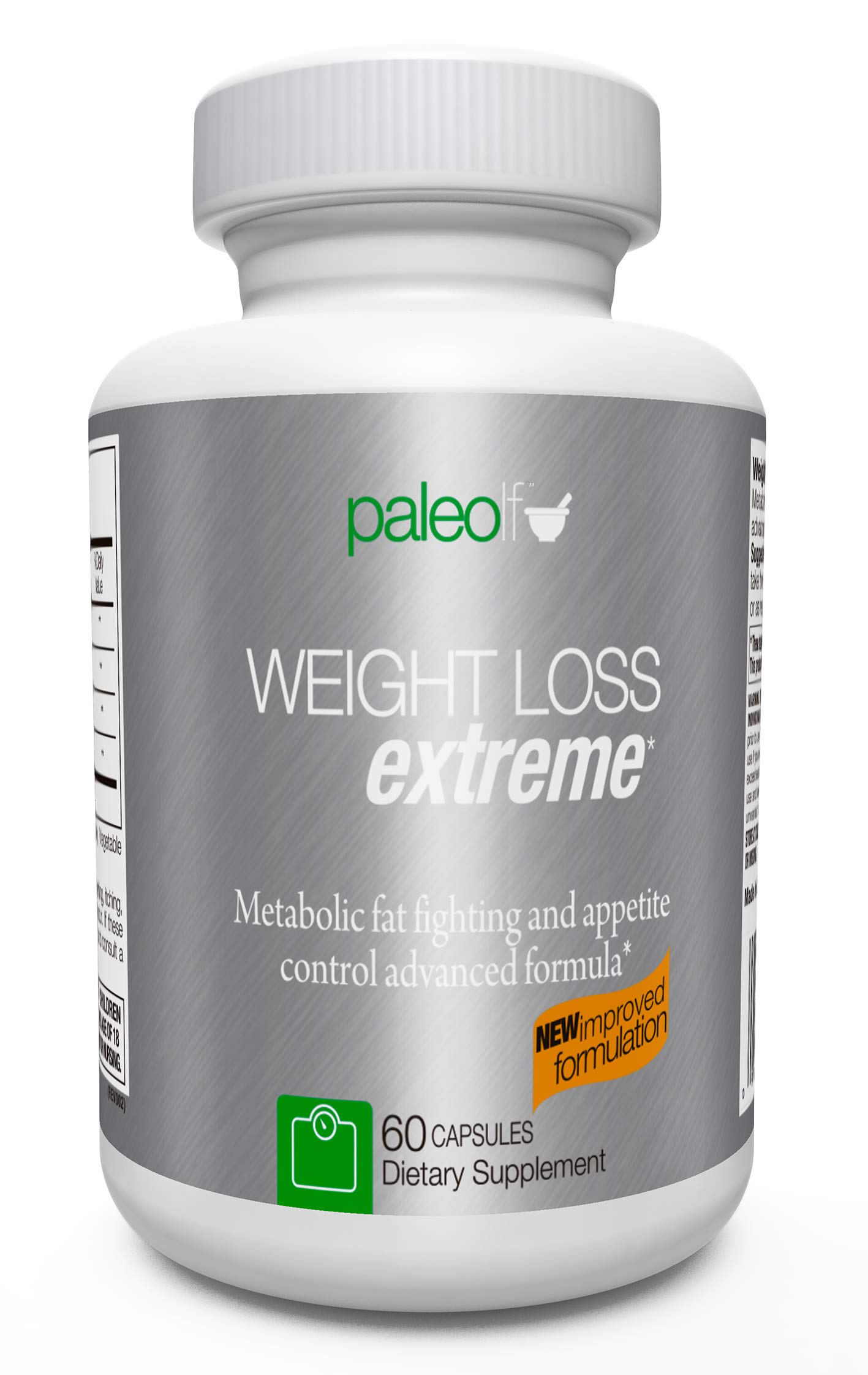 Paleo Life Weight Loss Extreme Fat Burner, Appetite and Cravings Control Formula, Fights Food Anxiety. 60 Capsules by Paleolf