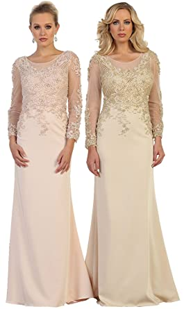 d13bbd98dc0 Formal Dress Shops Inc Royal Queen RQ7594 Long Sleeve Modern Mother of The Bride  Gown (