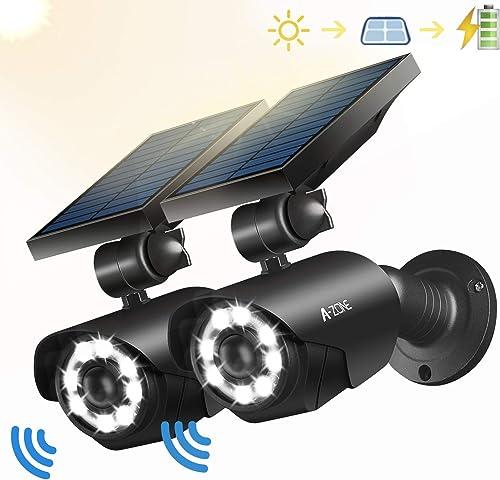 Solar Motion Sensor Light Outdoor – 800Lumens 8 LED Spotlight 5-Watt Solar Lights Outdoor IP66 Waterproof, Wireless Solar Flood Light for Porch Garden Patio Driveway Pathway,Aluminum,Pack of 2 black