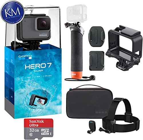 GoPro Hero 7 Silver Action Camera with GoPro Adventure Kit Essential Bundle