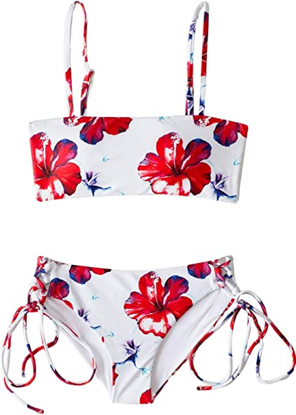 Amazon.com: Aloha Spirit Bandeau Style Bikini Set para niñas ...