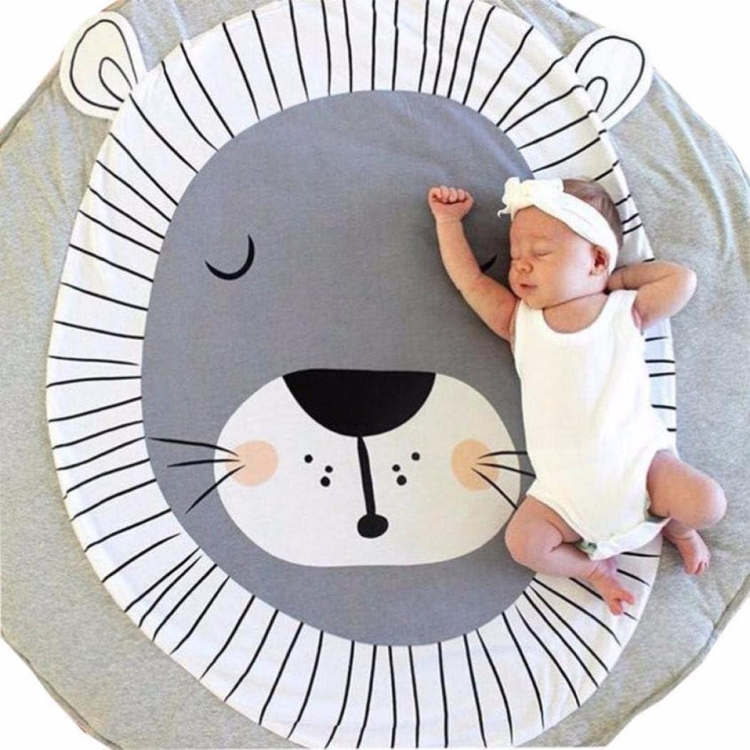 Fabal Newborn Kids Floor Mats Baby Crawling Blanket Cotton Chilren Padded Mat Round Carpet Play Rug Kids Room Decoration B