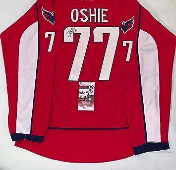 Signed T.J. Oshie Jersey - T. J. Caps TJ - JSA Certified - Autographed NHL  Jerseys ff2191ebd73d