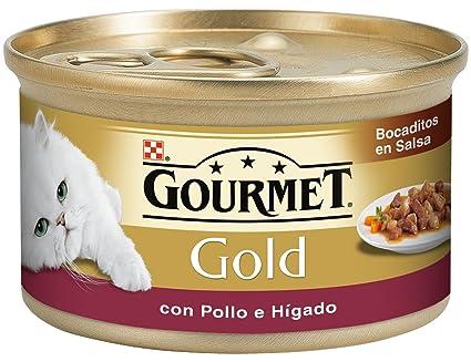Gourmet - Alimento para Gato - Húmedo - Gold Bocaditos En Salsa con Pollo E Hígado