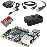 Raspberry Pi Model B - Placa base (ARM Cortex-A7, 1 GB RAM, 4 x USB, HDMI, 40 GPIO pinos) - Kit de inicio incluido