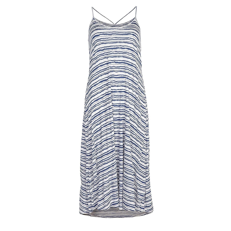 Jersey-Kleid mit Spagettiträgern von Noa Noa in Stone Blue