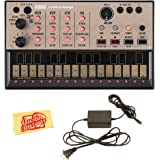 Korg Volca Keys Analogue Loop Synth Bundle with Power Supply and Austin Bazaar Polishing Cloth