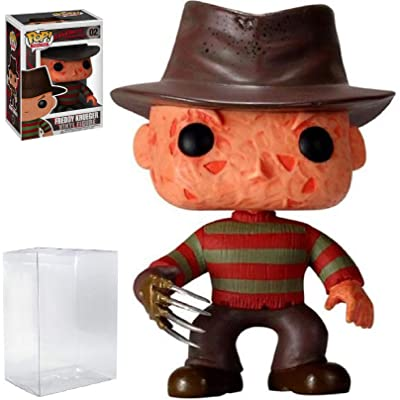 Funko Pop! Movies: A Nightmare on Elm Street - Freddy Krueger Vinyl Figure (Includes Compatible Pop Box Protector Case): Toys & Games