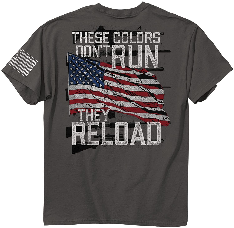 Buck Wear Men' Colors Reload Cotton T-Shirt, Charcoal