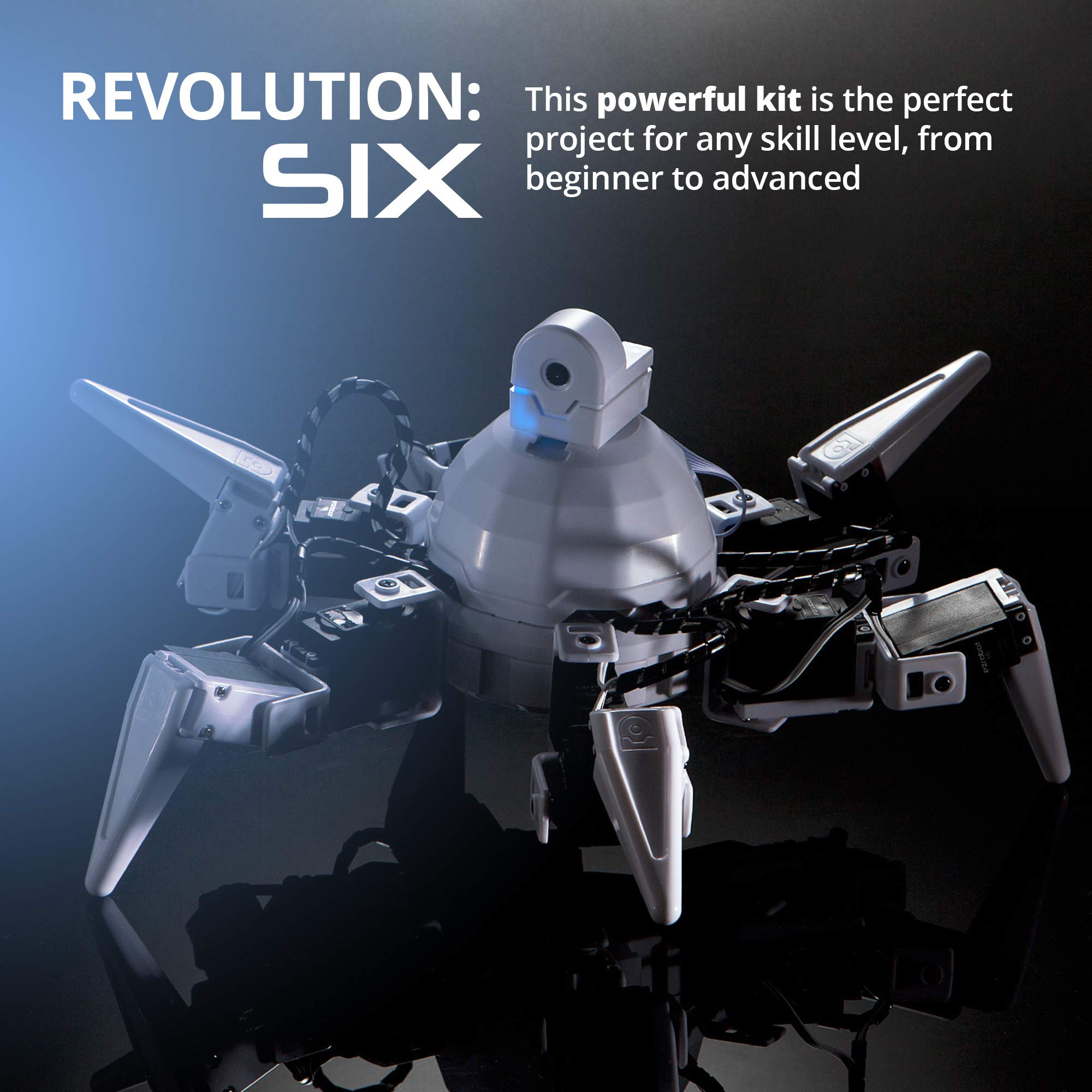 EZ-Robot Six Hexapod Kit DIY STEAM Educational Robotics Set for Kids & Adults Learning to Design & Build Programmable Electronic Robots by EZ-Robot (Image #7)
