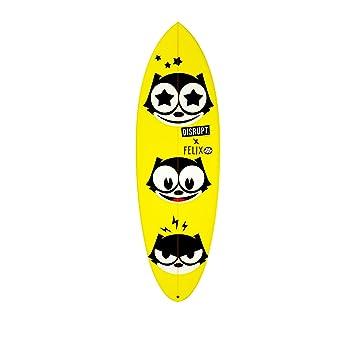 Ocultos de la tabla de surf, diseño Felix el Gato Amarillo, 5 4