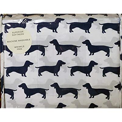 Max Studio Kids 3pc TWIN Sheet Set Dogs Dachsunds: Home & Kitchen