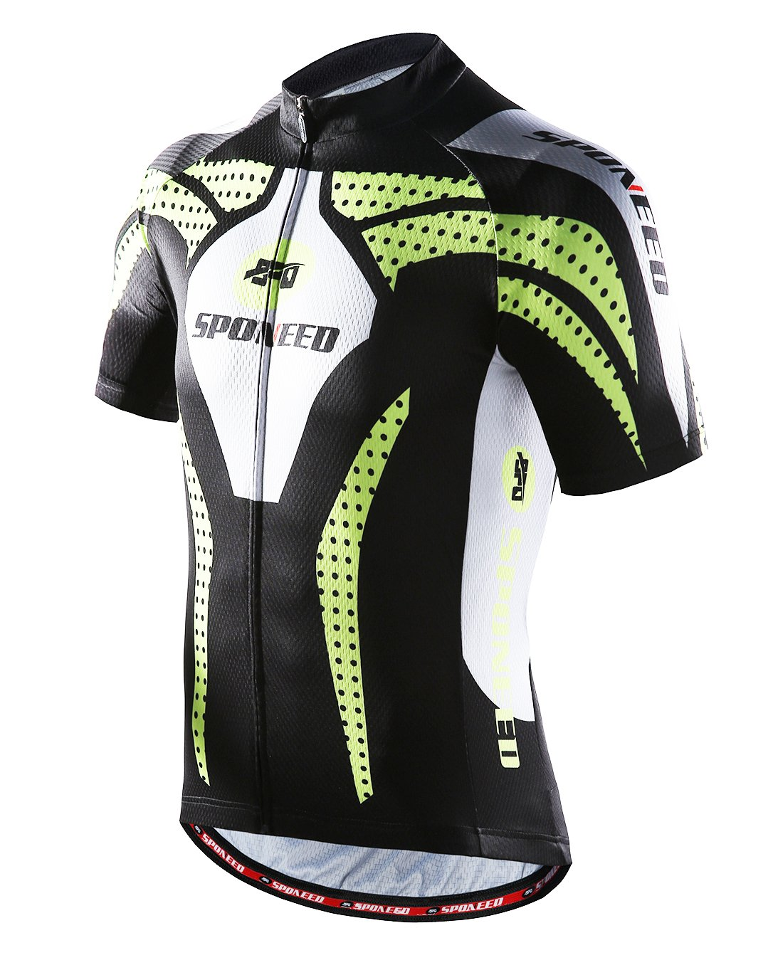 sponeed Men's Bicycle Jersey Polyester and Lycra Shirt Cycling Top Size Asian M/US S Green