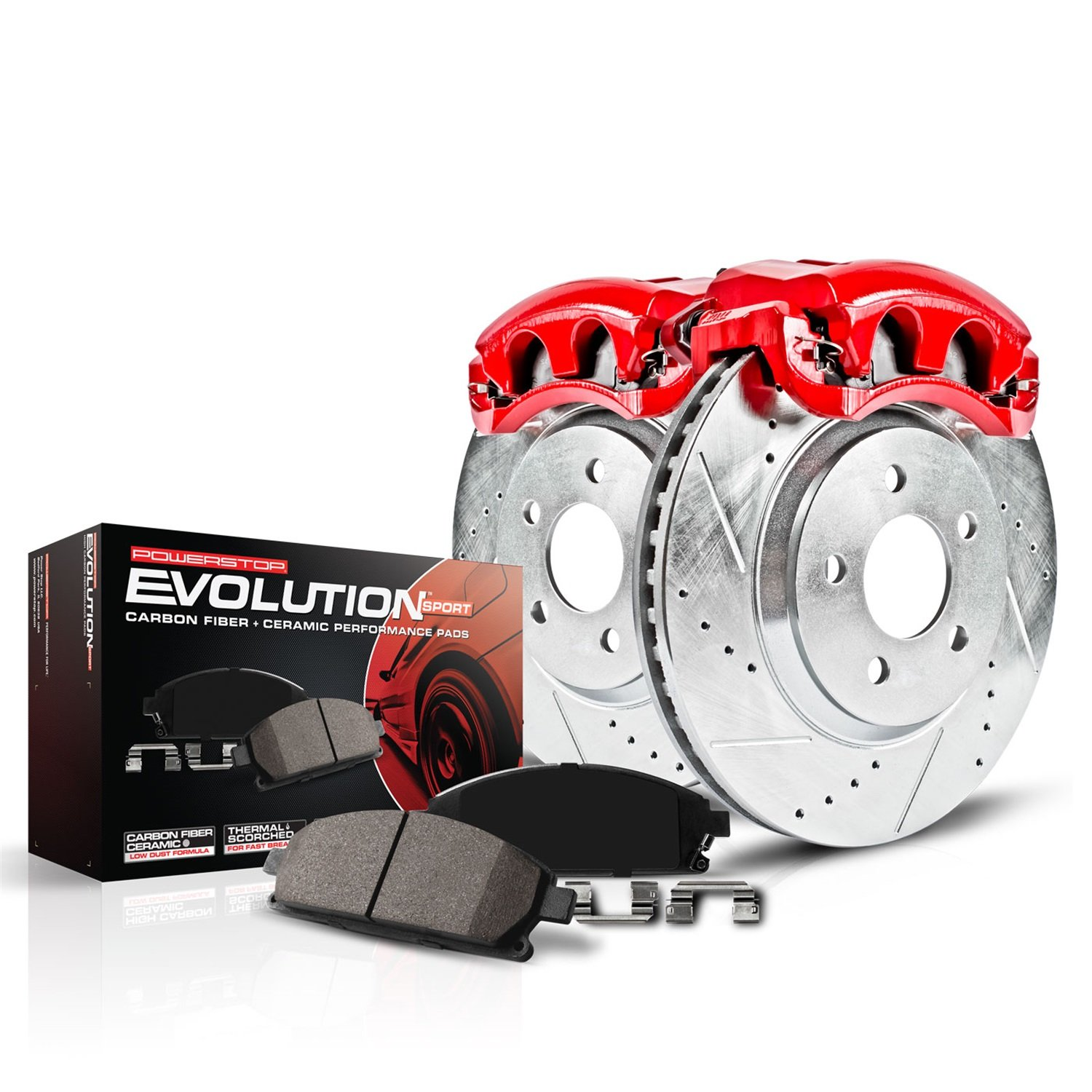 Power Stop (KC5588) Z23 Evolution Sport Brake Kit with Calipers, Front