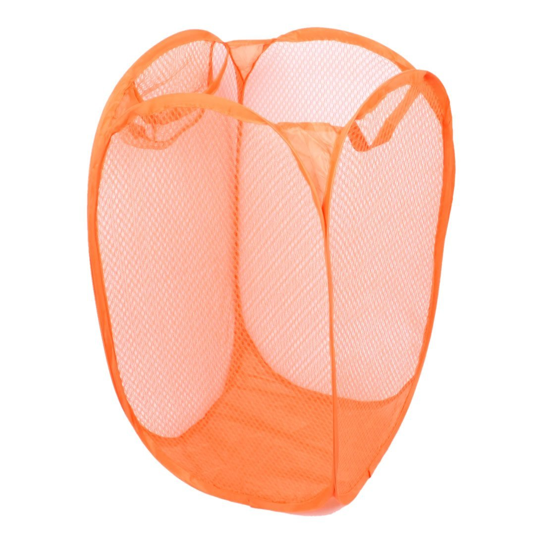 SODIAL/£/¨R/£/©Hogar Sucio Ropas Lavanderia Plegable Bolsa de Malla Canasta Soporte Naranja